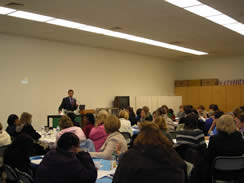 Dr. Pendell provides asthma training